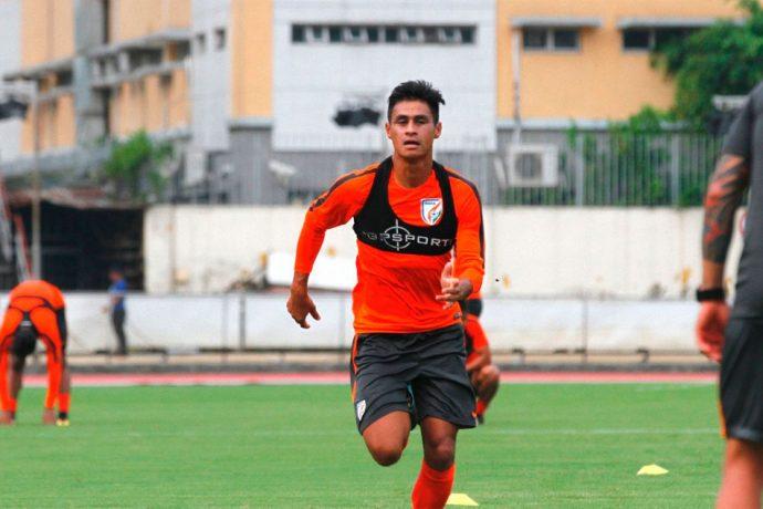 Indian national team star Eugeneson Lyngdoh (Photo courtesy: AIFF Media)