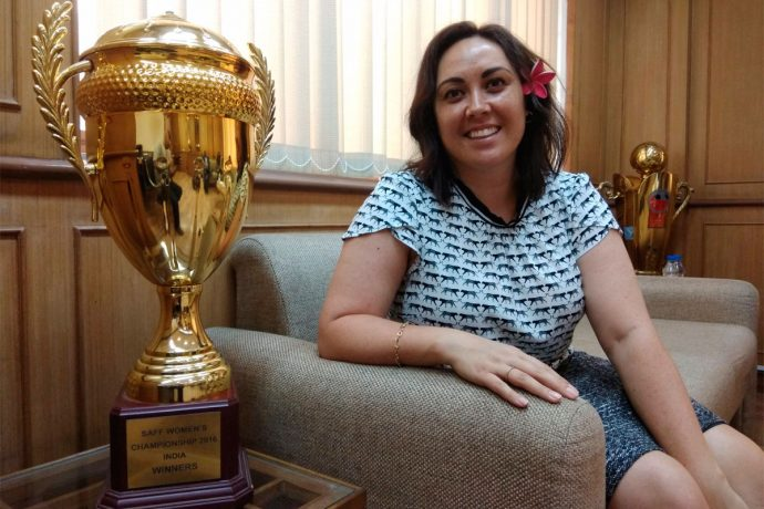 FIFA Chief Women's Football Officer Sarai Bareman visits AIFF (Photo courtesy: AIFF Media)