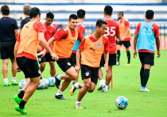 Bengaluru FC midfielder Boithang Haokip in training at the Kanteerava Stadium. (Photo courtesy: Bengaluru FC)