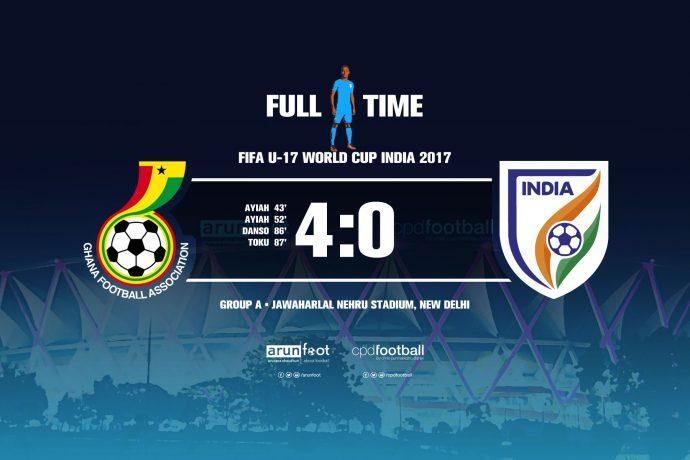 FIFA U-17 World Cup India 2017 - Group A: Ghana U-17 4-0 India U-17