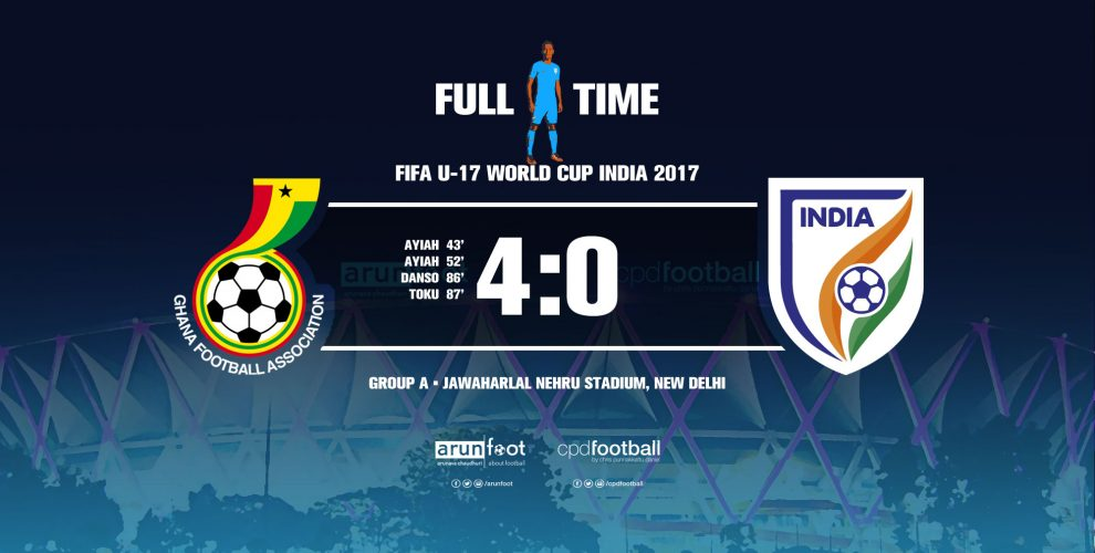 FIFA U-17 World Cup India 2017 - Group A: Ghana U-17 4-0 India U-17