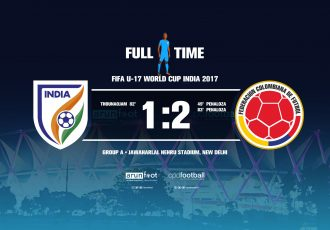 FIFA U-17 World Cup India 2017 - Group A: India 1-2 Colombia
