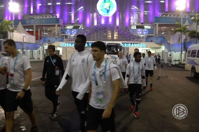 Video: Germany gear up to face Brazil in FIFA U-17 World Cup India 2017 quarter-final (Photo courtesy: Screenshot - DFB TV)