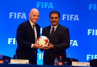 FIFA President Gianni Infantino and AIFF President Praful Patel (Photo courtesy: AIFF Media)