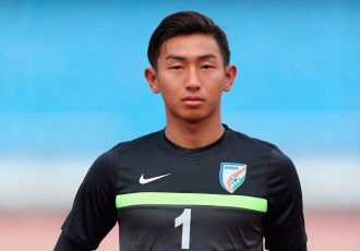 India U-17 national team goalkeeper Dheeraj Singh Moirangthem (Photo courtesy: AIFF Media)