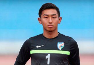 India U-17 national team goalkeeper Dheeraj Singh Moirangthem (Photo courtesy: AIFF Media)