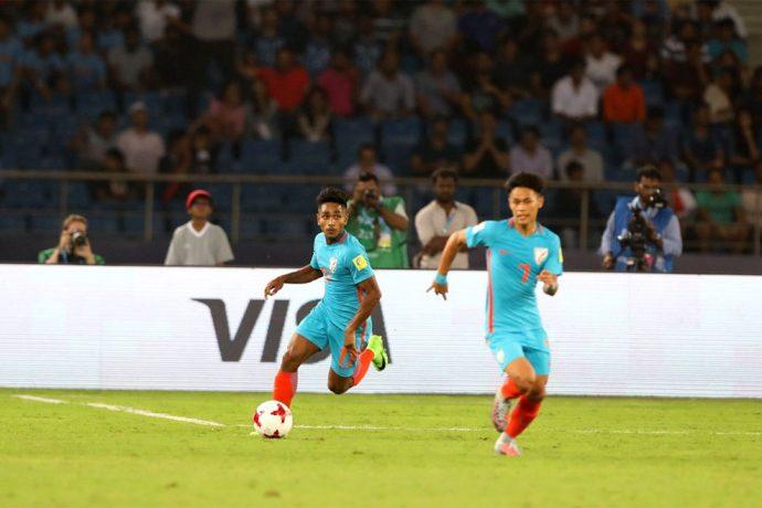 FIFA U-17 World Cup India 2017 Group A match action: India U-17 v USA U-17 (Photo courtesy: AIFF Media)