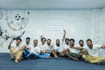 FIFA U-17 World Cup India 2017 volunteers have turned a part of the Jawaharlal Nehru Stadium in Kochi into a work of art. (Photo courtesy: AIFF Media)