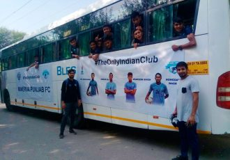 Over 150 Minerva Punjab FC's Academy cadets and staff travel to Delhi to support India U-17 (Photo courtesy: Minerva Punjab FC)