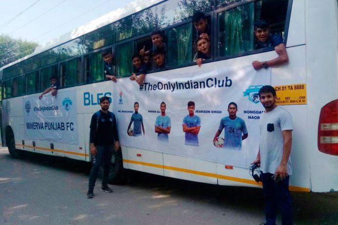 Over 150 Minerva Punjab FC's Academy cadets and staff travel to Delhi to support India U-17 (Photo courtesy: Minerva Punjab FC)