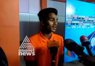 India U-17 midfielder Rahul Kannoly Praveen (Photo courtesy: Screenshot - Asianet News)