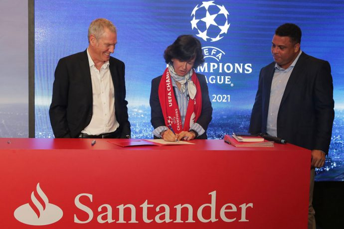 Banco Santander to sponsor UEFA Champions League. (Photo courtesy: Banco Santander)