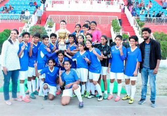Chandigarh Sub-Junior Girls Football Team (Photo courtesy: AIFF Media)