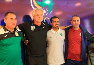Head coaches of the AFC U-19 Championship Qualifiers Group D (Photo courtesy: AIFF Media)
