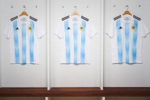 adidas reveals the new Argentina national team home kit for 2018 FIFA World Cup (Photo courtesy: adidas)