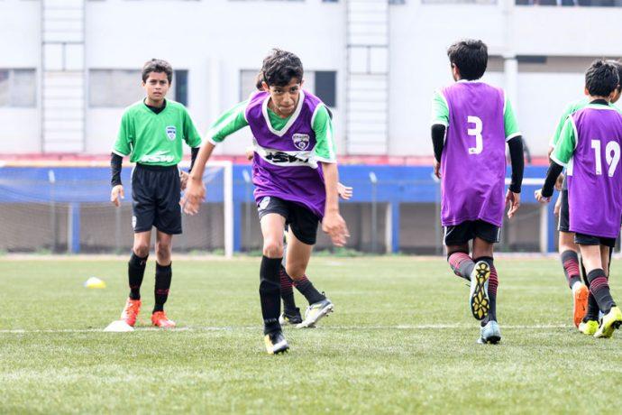 Bengaluru FC U13 in action at the Bangalore Football Stadium (Photo courtesy: Bengaluru FC)
