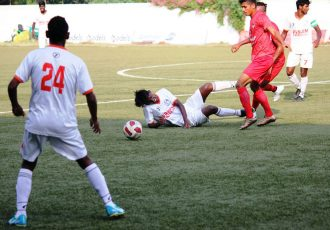 Panjim Footballers and Churchill Brothers Sports Club played a 1-1 draw in a GFA Goa Professional League. (Photo courtesy: Goa Football Association)