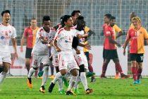 Aizawl FC hold East Bengal to a 2-2 draw in an I-League encounter at the Saltlake Stadium in Kolkata. (Photo courtesy: I-League Media)