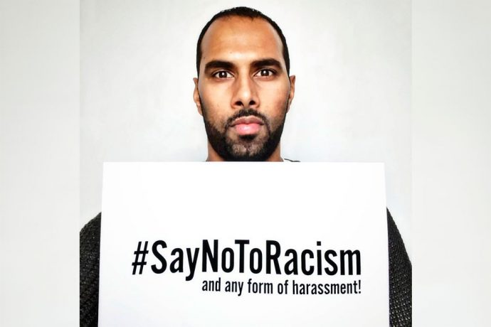#SayNoToRacism: Racism and harassment have no place in football and in our society!
