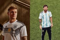 Toni Kroos and Lionel Messi presenting the new adidas home jerseys for the FIFA World Cup Russia 2018 (Photo courtesy: adidas)