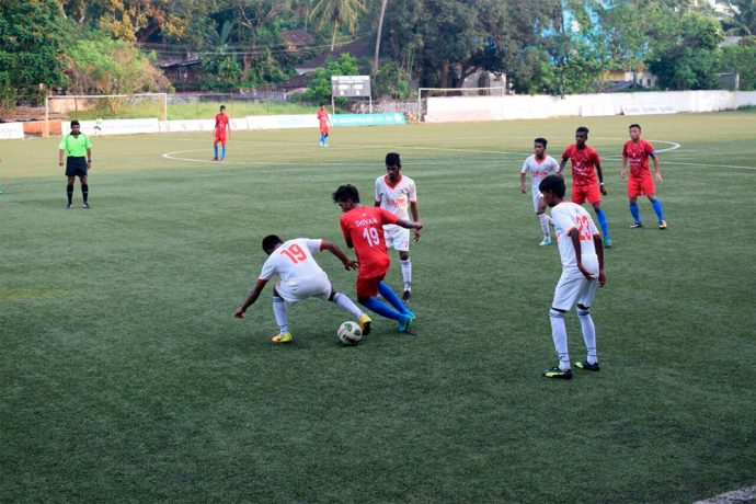 Panjim Footballers defeat Churchill Brothers in GFA U-20 Taca Goa League One. (Photo courtesy: Goa Football Association)