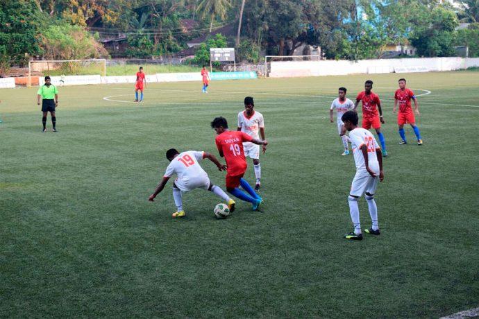 Panjim Footballers defeat Churchill Brothers in GFA U-20 Taca Goa League One. (Photo courtesy: Goa Football Association)