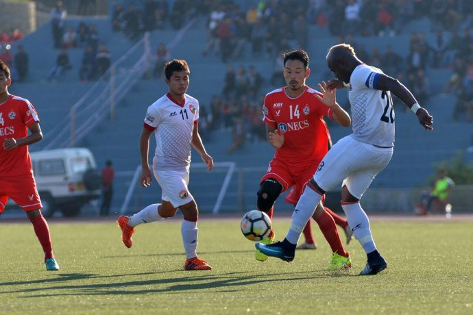 Shillong Lajong FC secure a 1-0 win against I-League champions Aizawl FC. (Photo courtesy: Shillong Lajong FC)