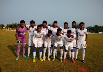 Chennaiyin FC U-13 team ahead of an U-13 Youth League match (Photo courtesy: Chennaiyin FC)