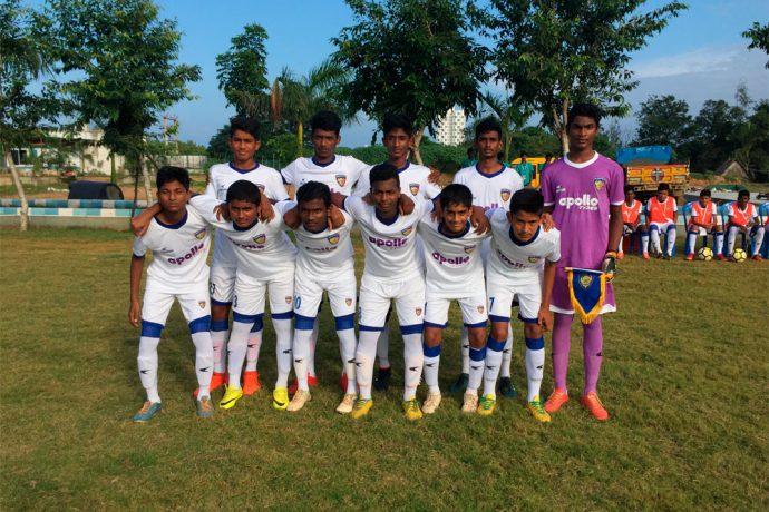 Chennaiyin FC U-15 team in the U-16 Youth League (Photo courtesy: Chennaiyin FC)