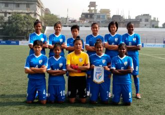 India U-15 Women's National Team at the SAFF U-15 Women's Championship 2017 (Photo courtesy: AIFF Media)