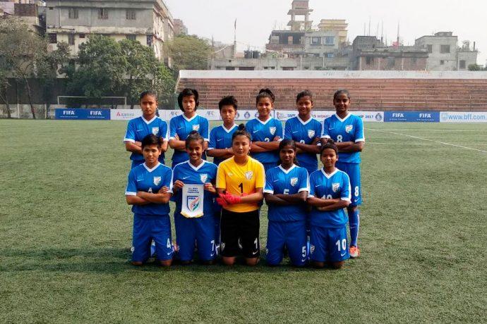 India U-15 Women's National Team at the SAFF U-15 Women's Championship 2017 (Photo courtesy: AIFF Media)