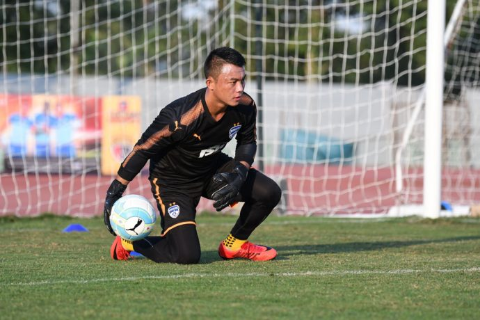 Bengaluru FC goalkeeper Lalthuammawia Ralte in training. (Photo courtesy: Bengaluru FC)