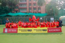 Liverpool FC and Western Union host free football clinics for Underprivileged Children in Mumbai (Photo courtesy: Western Union)