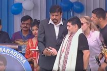 Diego Armando Maradona at Sreebhumi Sporting Club in Kolkata