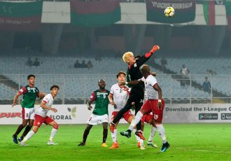 Mohun Bagan AC and Shillong Lajong FC settle for a 1-1 draw in an I-League encounter at the Saltlake Stadium in Kolkata. (Photo courtesy: Shillong Lajong FC)