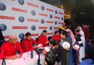 Paris Saint-Germain stars delight fans In Doha (Photo courtesy: Paris Saint-Germain)