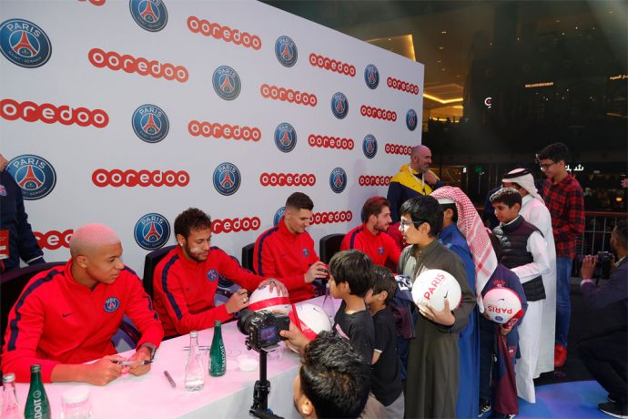 Paris Saint-Germain stars delight fans In Doha (Photo courtesy: Paris Saint-Germain)
