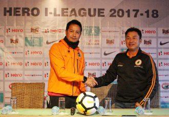 Shillong Lajong FC v NEROCA FC pre-match press conference (Photo courtesy: Shillong Lajong FC)