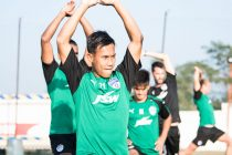 Bengaluru FC striker Udanta Singh trains at the FC Pune City training grounds, in Pirangut, Pune. (Photo courtesy: Bengaluru FC)