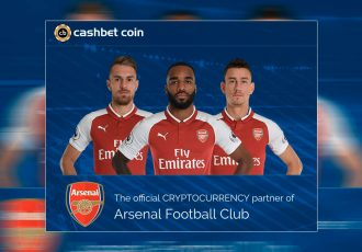 Arsenal FC signs world-first cryptocurrency partnership with CashBet Coin (Photo courtesy: CashBet)