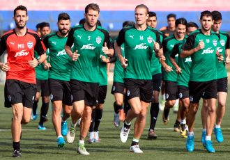 Bengaluru FC players in a training session at the Bangalore Football Stadium (Photo courtesy: Bengaluru FC)