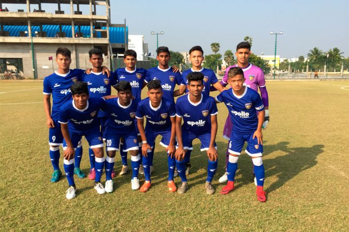 Chennaiyin FC U-18 in the U-18 Youth League (Photo courtesy: Chennaiyin FC)
