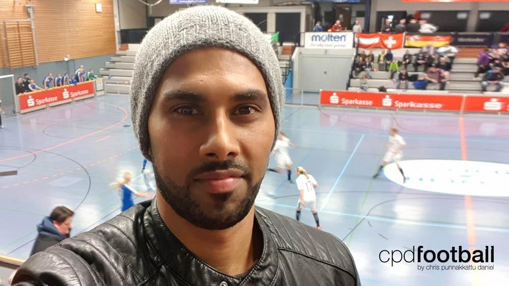 """Day 1: Chris Punnakkattu Daniel at """"Weltklasse 2018"""" - 38. Internationales Frauenfußball-Hallenturnier des TuS Jöllenbeck"""