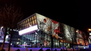 Deutsches Fußballmuseum at night (© CPD Football)