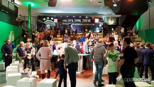 Fans after the DFB-Pokal draw at the Deutsches Fußballmuseum in Dortmund. (© CPD Football)