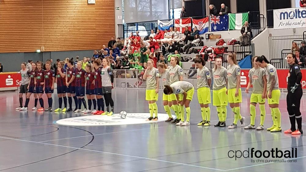 "Day 1: Turbine Potsdam v 1. FC Köln - ""Weltklasse 2018"" - 38. Internationales Frauenfußball-Hallenturnier des TuS Jöllenbeck"