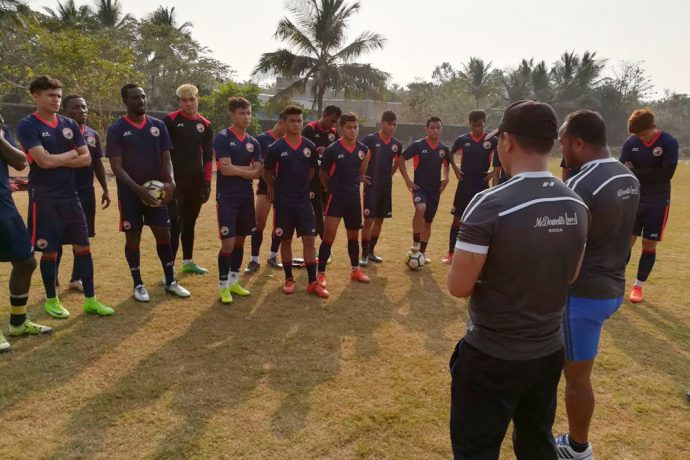 Shillong Lajong FC squad during a training session (Photo courtesy: Shillong Lajong FC)