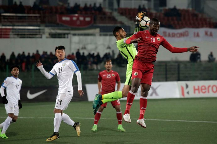 Shillong Lajong FC registered their first win of the year as they went on to defeat the AIFF developmental side Indian Arrows 1-0. (Photo courtesy: Shillong Lajong FC)