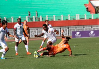 I-League match action between Shillong Lajong FC and NEROCA FC. (Photo courtesy: Shillong Lajong FC)