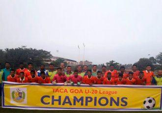Sporting Club de Goa emerge U-20 TACA League Champions (Photo courtesy: Goa Football Association)
